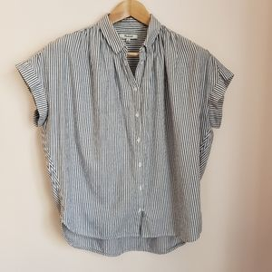 Madewell Central Shirt Blue and White Striped